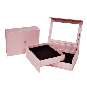 Lid Rigid Shoulder Hair Extension Box with Mirror