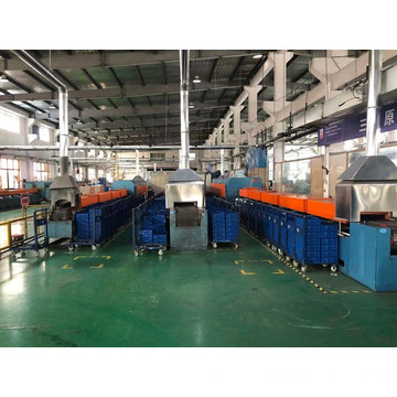Push rod type tempering furnace