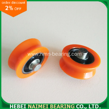 Plastic Pulley Carbon Steel Bearing Inserted 608