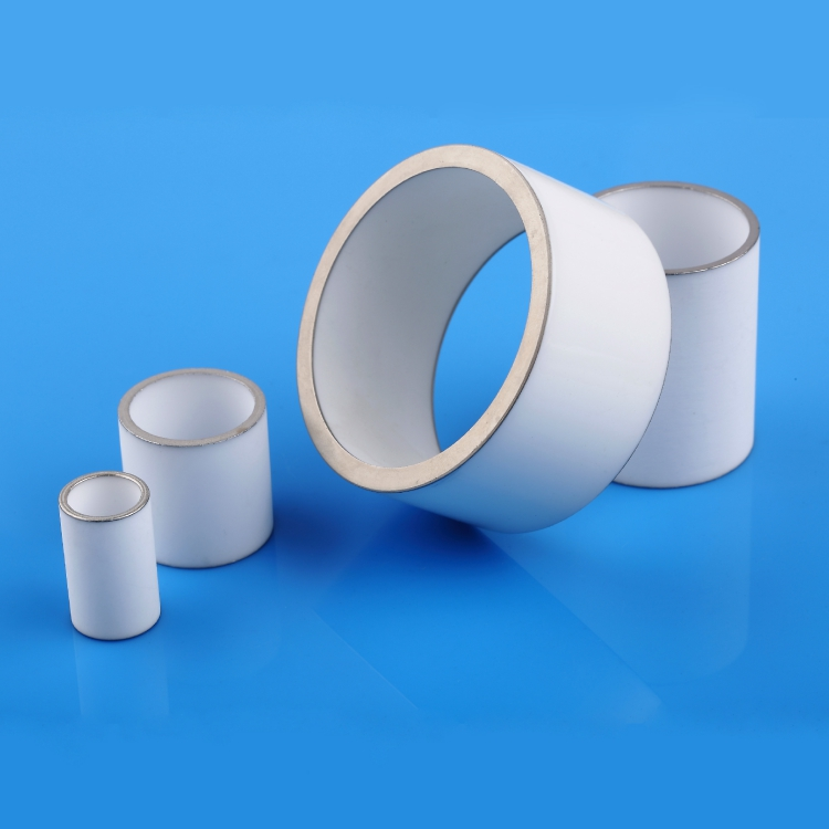 Metallized ceramic tube