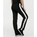 BlacK and white Contrast Side Panel Trousers