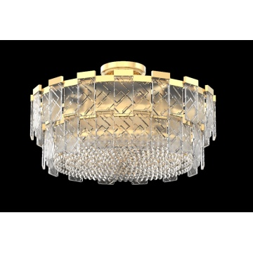 Bedroom Decoration Round Crystal Ceiling Light