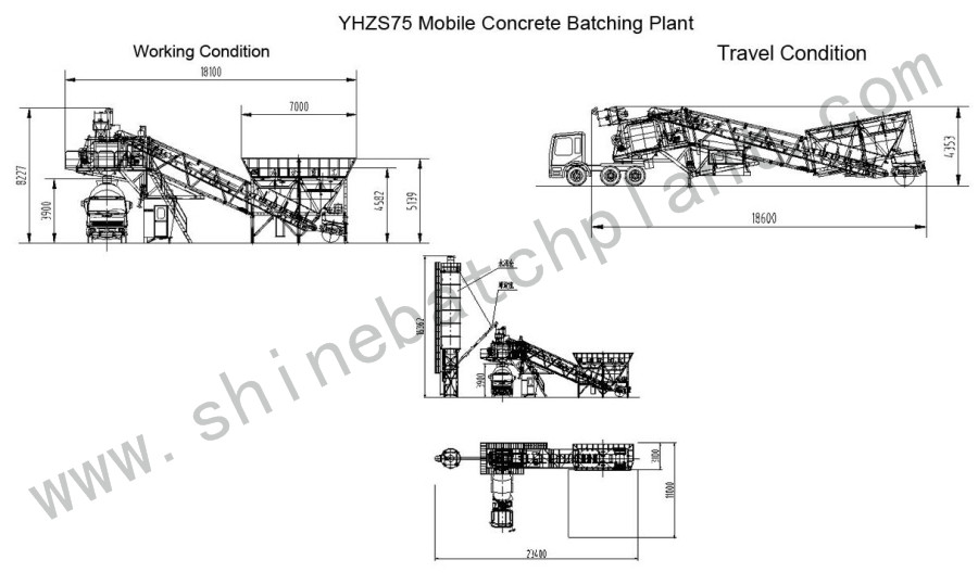 Drawing Mobile Batch Plant 75