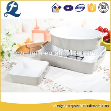 Microwave safe durable no leakage ceramic bread baking trays