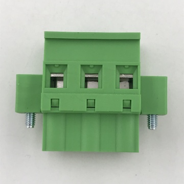 Pluggable female terminal block with flange ears