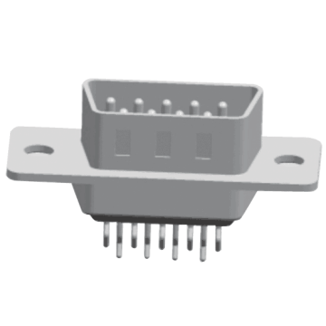 D-SUB PCB Male Dual Row Straddle(stamped Pin)