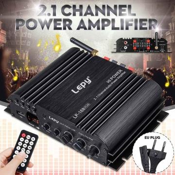 LEPY 168Plus Car Amplifier Speaker Power Subwoofer 2.1 Channel HiFi Amp Bass bluetooth Stereo Sound FM 19V 3A EU Plug