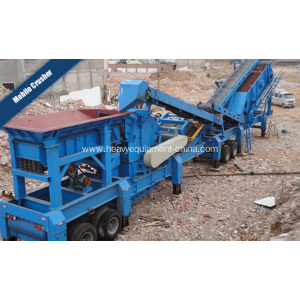 Mobile Rock Crusher Plant For Coal Granite Crushing