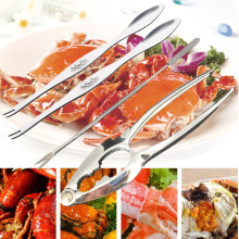 4Pcs Seafood Tool Set Crab Shrimp Fruit Pliers Fork Spoon Set Nut Walnut Lobster Crab Cracker Tools Kitchen Accessories