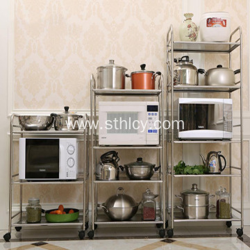 Stainless Steel Movable Trolley Rack