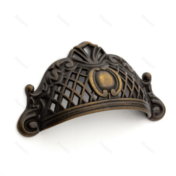 Victorian Style Crown Antique Zinc Alloy Cabinet Pulls