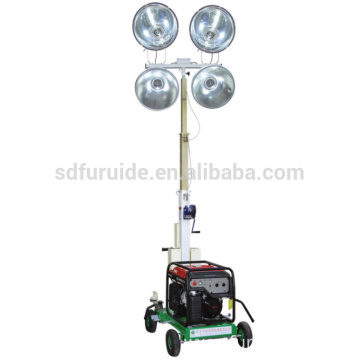 4-spotlight Portable Telescopic Generator Lighting Tower For Night Repair For Outdoor FZM-1000B