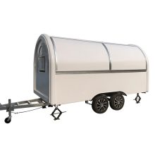 Mobile Food Truck Concession Food Trailer 400x200x240cm White