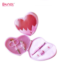 Heart Shape PU Bag Manicure Set