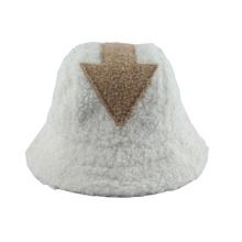 2020 New Fashion Hip Hop White Lamb Wool Gorros Fisherman Hat Arrow Symbol Faux Fur Bucket Hats Women Winter
