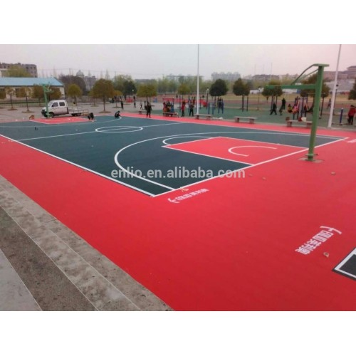 Backyard basketball court tile
