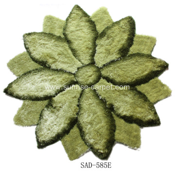 Polyester Rugs With Flower 3D Design