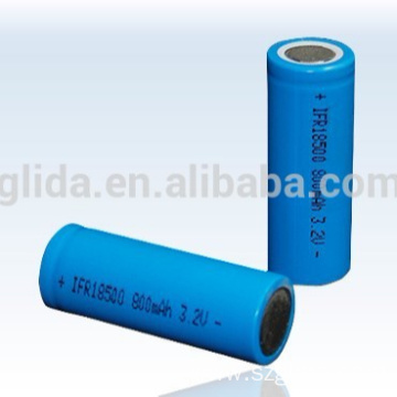 Professional ODM LiFePO4 IFR 18500 800mAh 3.2V Batteries