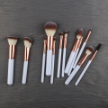 Private Label Logo plastic Cosmetic Makeup Brush Set