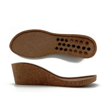 New material quality cork sole for Women's shoes