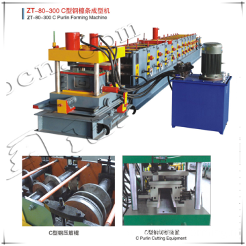 80-300 C purline roll forming machine