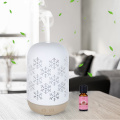 100ml Snowflake Ultrasonic Ceramic Humidifier Diffuser