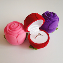Velvet rose engagement ring box