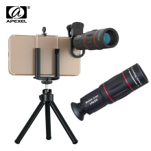 APEXEL 18X Telescope Zoom Mobile Phone Lens Telephoto Macro Camera Lenses Universal Selfie Tripod With Clip For All Smartphone