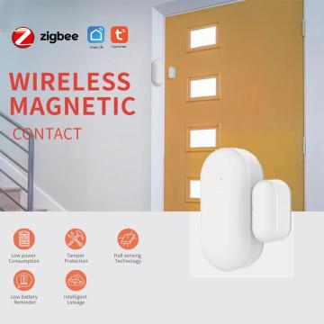 Tuya ZigBee Door Window Sensor With Alexa Google Home Smart Home Kits Alarm System Work with Gateway Tuay/Smart Life APP