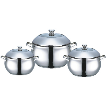 Stainless Steel Casserole with Dome Lid