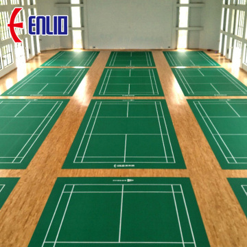 International standard badminton court mat vinyl floor
