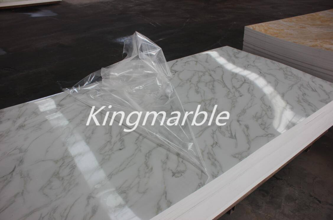 pvc faux marble wall panels sheet