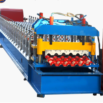 step tile machinery steel roofing tile roll forming machine