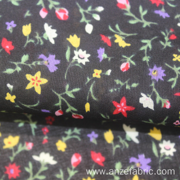 Wholesale custom 100% cotton voile floral printed fabric
