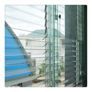 Tinted Tempered Acid Etched Louvre Glass