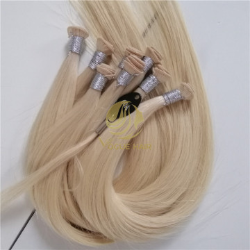 "Custom 16"" #60A hand tied weft hair"