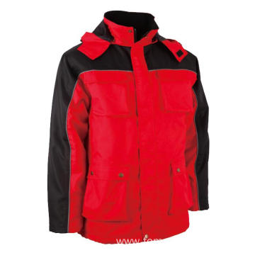 Red with black Winter Jacket