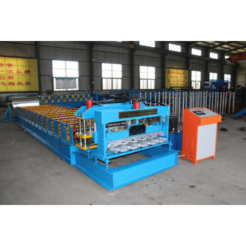 Metal galvanized glazed tile cold roll forming machine