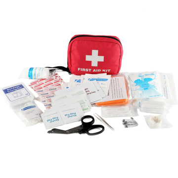 mini double handy first aid kit with carabiner