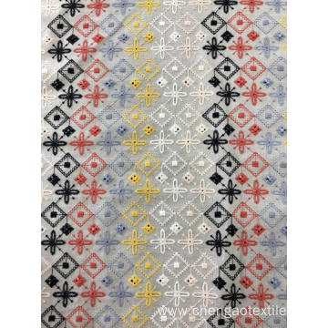 Six Colors Cross Design Cotton Embroider Fabric