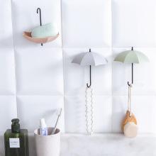 3 pcs Creative Hook Umbrella Shape Wall Mount Hook Key Holder Storage Stand Hanging Hooks For Bathroom Kitchen Door Decor Home