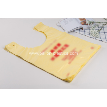 HDPE Plastic T-Shirt Bag With Printing