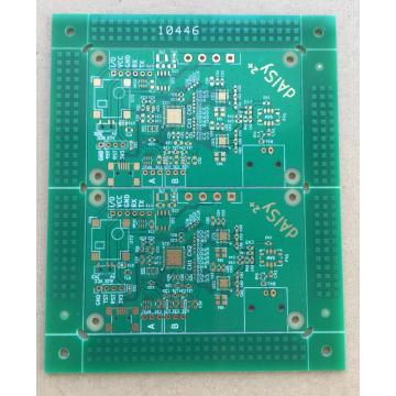 2 layer 1,2mm green solder ENIG PCB
