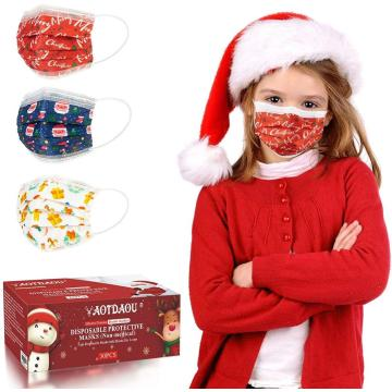 3 Layer Protection Christmas Kids Face Mask