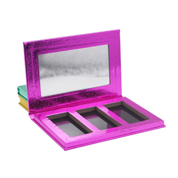 Metallic coloful paper blush and face powder packaging