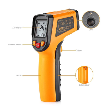 Infrared thermometer medical ear hospital thermometer gun