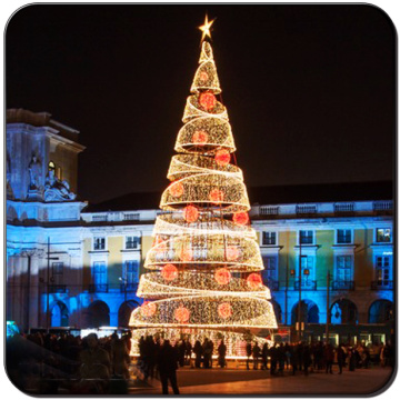 Shopping Squares Giant Outdoor Christmas Tree Decorations