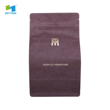 Flat square bottom Food Grade Moisture Proof Packaging Plastic coffee Bag
