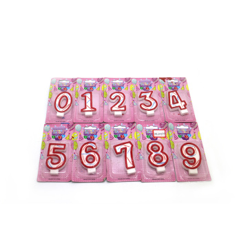 colorful number shape candles with glitter