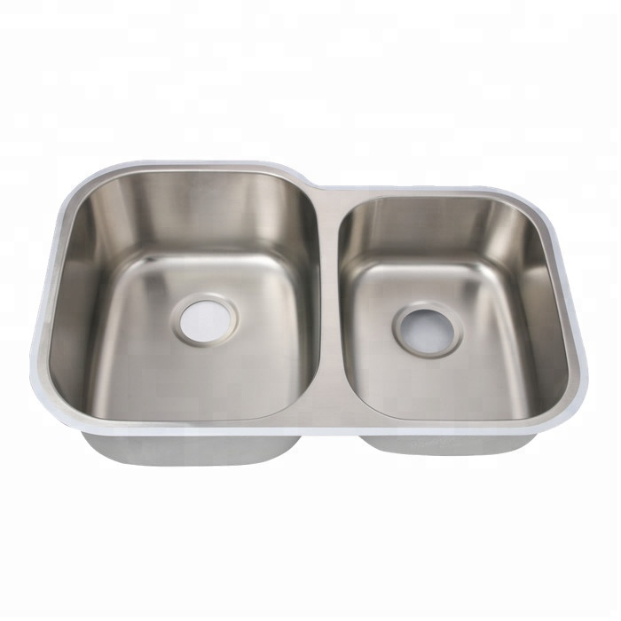 304 Stainless Steel Double Bowl Cupc Commerical